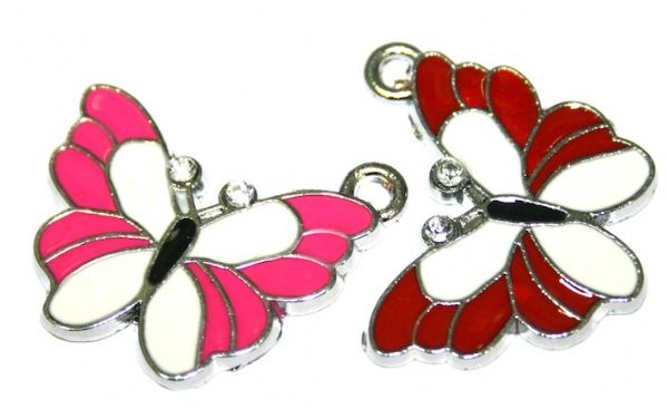 Butterfly enamel charms